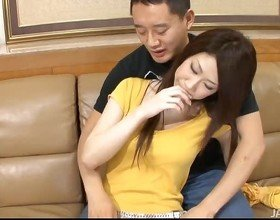 Babe is having threesome enjoyment with 2 fellows