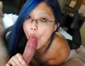 Sensentual Blowjob by Asian Hottie