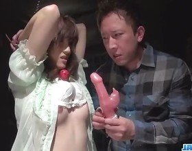 Obedient milf Kanako Iioka enjoys rough toy porn
