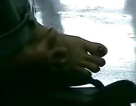 Candid Asian Toe Spread Under Table, Free Porn 50: