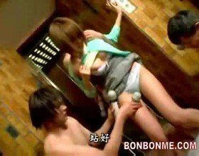 Elevator russian rouletteteen be molested by sextoy