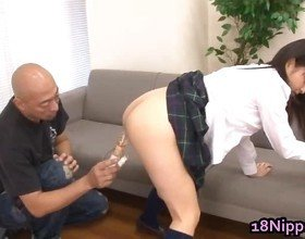 Naked Asian Schoolgirl Get Sucked Off