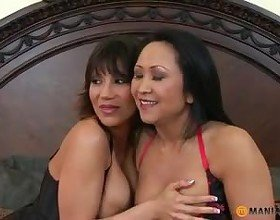 A Threesome with Asian MILFs, Free Mature Porn 01: