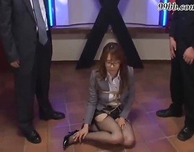 Piss Japanese secretary slave