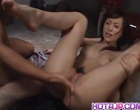 Arisa Kanno sucks and licks dongs