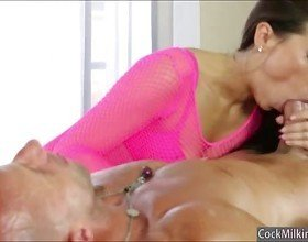 Asian Kalina Ryu throated and pounded on massage table