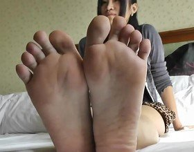 Happy Asian Feet: Foot Fetish HD Porn Video 25 -