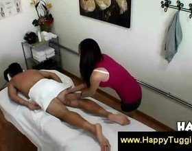 Masseuse therapist offers a happy ending