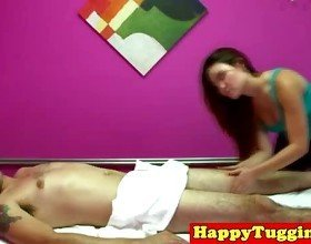 Real nuru masseuse jerking customers dick