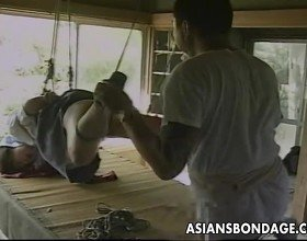 Sexy little Asian girl gets tied up and teased by