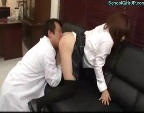 Schoolgirl with huge tits rapped fingered licked mouth fucke