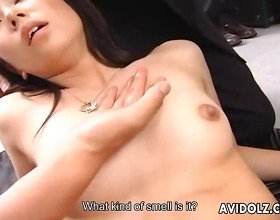 Japanese babe Satomi Maeno fucked by a group
