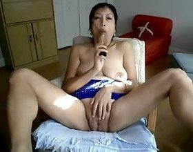 Asian Mature Hot Masturbation in Webcam, Porn 45: